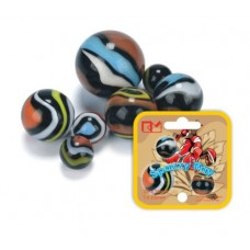 Toy Marbles - King Marbles Spazzy Ray 8 X 25mm in Net with Header Card
