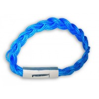 Bright Blue Bracelet. Macaraya products are the latest fashion industry accessory.