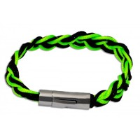 Green Grass and Black Twisted Bracelet. Macaraya products are the latest fashion industry accessory.