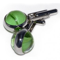 Green Star Cufflinks that are all hand assembled and totally unique to Macaraya
