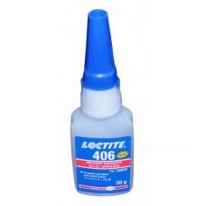 LOCTITE 406 SUPER GLUE - INSTANT ADHESIVE - 20G - PLASTIC & RUBBER EXPIRES 12/18